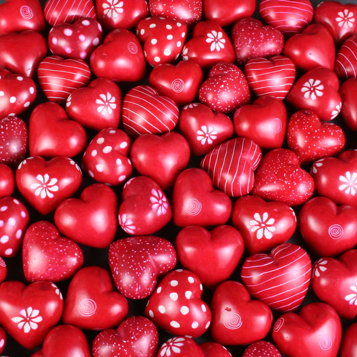 2cm Soapstone Hearts