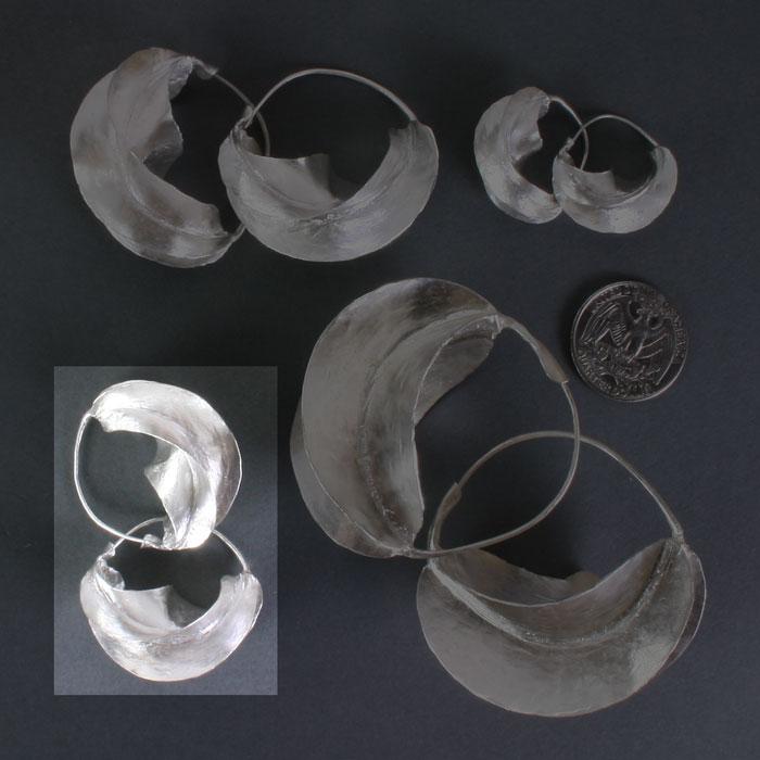 """Fulani Sterling Silver Earrings 1 1/4"""""""