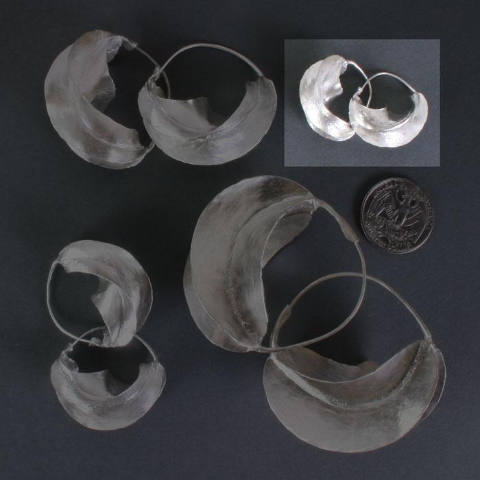 """Fulani Sterling Silver Earrings 7/8"""""""
