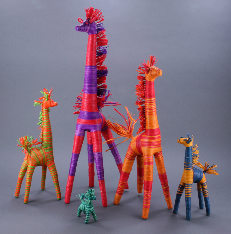 Giraffes (Raffia)