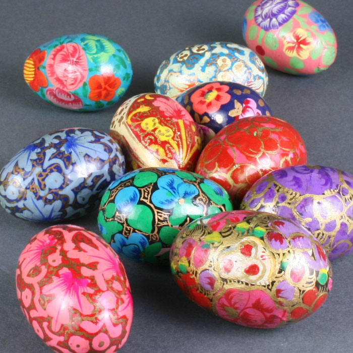 """1.5"""" Hand Painted Wooden Eggs"""
